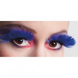 Pestañas postizas plumas colores
