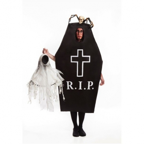 Disfraz lápida negra adulto