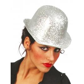 Sombrero plata purpurina