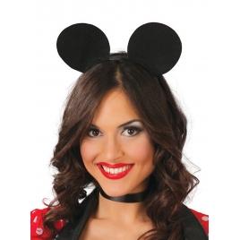 Diadema ratón Mickey negra
