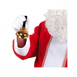 Campana dorada papa noel