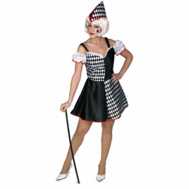 Disfraz arlequina mujer