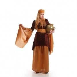 Disfraz medieval mujer marrón