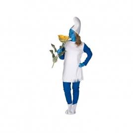 Disfraz enanita azul mujer