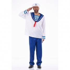 Disfraz marinero azul y blanco