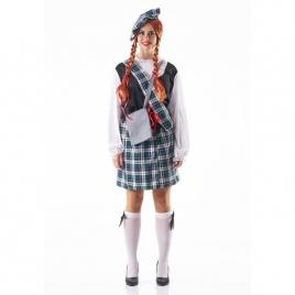Disfraz escocesa completo