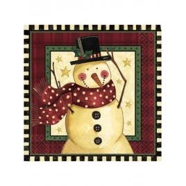 Servilletas navidad muñeco nieve