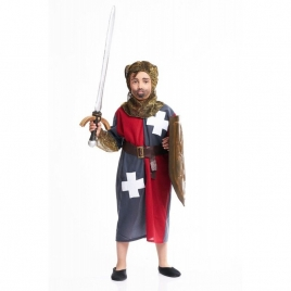 Disfraz medieval gris infantil